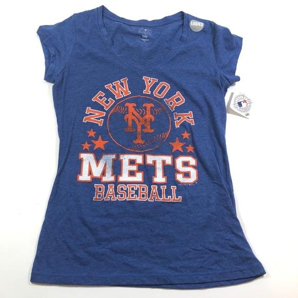7106866a Majestic Tops | New York Mets Vneck Short Sleeve Shirt | Poshmark
